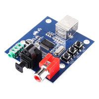 PCM2704USB Sound Card DAC Decoder USB Input Coaxial Fiber HIFI Sound Card Decoder (C6B4)