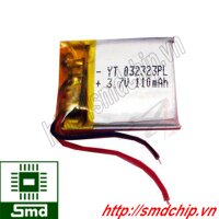 Pin lithium 23x23mm 110mAh