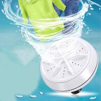 Portable Mini Washing Machine Ultrasonic Turbine Clothes Mini Wash Mashing Personal Laundry Washer Travel