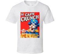 Quaker Capn Crunch Trẻ Em Ngũ Cốc Ăn Sáng Hộp Logo Áo Trong Thun Từ Quần Áo Nam 2019 Chất Lượng Cao thương Hiệu Áo Ngắn Tay Cổ Tròn In Hình 100% Cotton Su