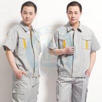 Quần áo bảo hộ đồng phục vải Hàn Quốc túi hộp