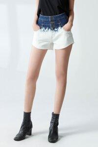 Quần short jeans nữ dáng đứng - 220WD1102A2980