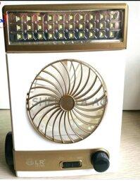 Quạt sạc năng lượng mặt trời tích hợp đèn Led nguồn 220v