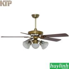 Quạt trần đèn chùm cánh gỗ Kim Thuận Phong BT508N - 5 cánh