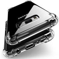 Rõ Ràng Ốp Lưng Chống Sốc Cho Samsung Galaxy S10 Plus S10e S8 S9 Plus Silicone Mềm Ốp Điện Thoại Cho Samsung Note 10 9 8 nắp Lưng