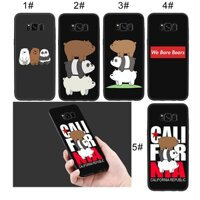 Samsung Galaxy S9 S8 Plus S7 S6 Note 8 9 Soft Case we bare bears Lovely