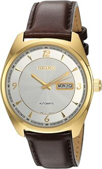 Seiko Men's 'Recraft Series' Japanese Automatic Brown Leather Dress Watch (Model: SNKN70)