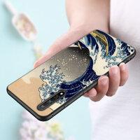 Silicon Ốp Điện Thoại TPU Sóng Nghệ Thuật Nhật Bản Xanh Tôi Llust Cho Huawei P Smart Z Plus 2019 P30 P20 pro P10 P9 P8 Lite Plus Ốp Lưng Điện Thoại