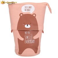 Simple Canvas Candy Color Stationery Bag Box Cosmetic Package Pen Container