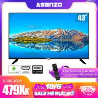 Smart Tivi LED 43 inch iSlim Asanzo 43SL600 (Android 8.0 Viền mỏng Viền kim loại nguyên khối Tích hợp tính năng tìm kiếm bằng giọng nói) - Bảo hành 2 năm LazadaMall