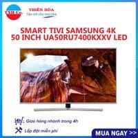 Smart Tivi SAMSUNG 4K UHD 50 Inch UA50RU7400KXXV LED (Bạc) kết nối Internet Wifi - Bảo hành 2 năm