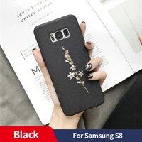 Số 1 Sanptoch Thêu 3D Hoa Ốp Lưng Điện Thoại Samsung Galaxy S10 S9 S8 Plus S10E Trường Hợp Cho Galaxy Note 9 8 ốp Lưng Vải Vỏ Bảo Vệ
