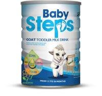 Sữa Dê Babysteps 3 Goat Toddler Milk Drink 900g