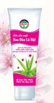 Sữa rửa mặt hoa đào lô hội