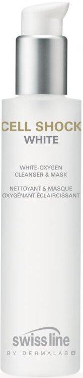 Sữa rửa mặt trắng da Cell Shock White Oxygen Cleanser & Mask Swissline