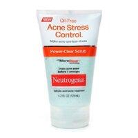 SỮA RỬA MẶT - Neutrogena Oil-Free Acne Stress Control Power-Cream Scrub