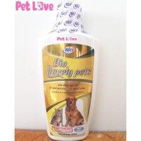 Sữa tắm Bio Lovely Pet (200ml) dưỡng lông chó mèo siêu mượt khử mùi hôi