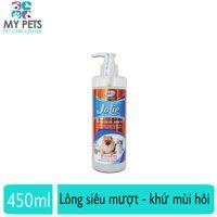 Sữa tắm dưỡng lông khử mùi hôi cho chó mèo - Bio Jolie Premium 450ml