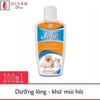 Sữa tắm dưỡng lông khử mùi hôi cho chó mèo - Bio Jolie 200ml