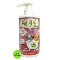Sữa Tắm Pet Gel Plus - 500ml - Sữa Tắm cho chó mèo giúp trị ve rận khử mùi và giúp da lông khỏe mạnh