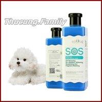 Sữa tắm SOS cao cấp cho Chó có lông màu trắng 530ml.Loại đục và gel trong như nhau.