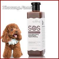 Sữa tắm SOS cao cấp cho Chó màu nâu đỏ 530ml. Loại đục và gel trong như nhau.