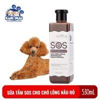 Sữa tắm SOS cho chó lông nâu đỏ chai 530ml màu nâu