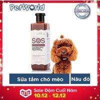 Sữa tắm SOS dành cho chó mèo 530ml (Nâu đỏ)