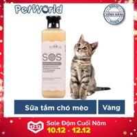 Sữa tắm SOS diệt khuẩn dành cho chó mèo 530ml (Vàng)
