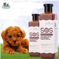 Sữa Tắm SOS (Nâu đỏ)- 530ml - cho các loại chó mèo màu nâu đỏ vàng - dầu gội đầu chó / sữa tắm mèo / dầu tắm chó mèo /vệ sinh chó