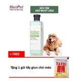 Sữa Tắm SOS xanh ngọc (mượt lông) cho chó mèo (sunzin hn 366b) tặng 1 gói tẩy giun chó mèo định kỳ