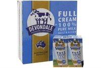 Sữa tươi nguyên chất tiệt trùng Devondale nguyên kem 24 hộp x 200ml