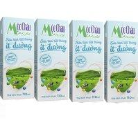 Sữa Tươi Tiệt Trùng Mộc Châu Ít Đường 110ml x 4 Hộp