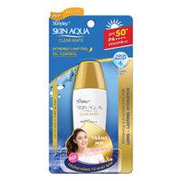 Sunplay Skin Aqua Clear White SPF50+, PA++++: Sữa chống nắng dưỡng da trắng mịn