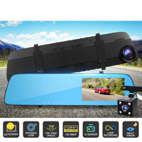 T115 Dual lens Driving Recorder 1080P G-sensor Built-in Battery Car DVR Camera
