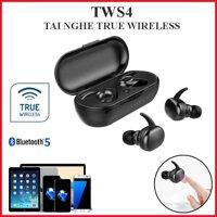Tai nghe TWS4 True Wireless cảm biến chạm nghe nhạc cực đỉnh (Bảo hành 2 tháng)