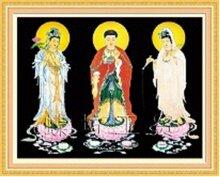 Tranh thêu chữ thập tôn giáo DLH-YA915