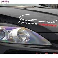 Tem dán chữ Sport trang trí cho ô tô Mazda (Trắng đỏ)