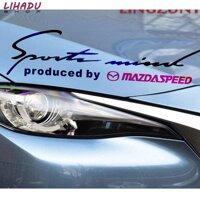 Tem dán Sport trang trí cho ô tô Mazda (Đen đỏ)