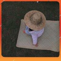 Thảm cỏ bàng trẻ em (Manh em ) / Chiếu cỏ bàng / Thảm cỏ bàng 60 x 80cm - Đồ Gia Dụng Tre Đồ Tre Thủ Công