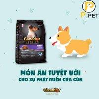 Thức ăn cho chó con Ganador Puppy - Thức ăn hạt khô cho chó con - Vị sữa và DHA - gói 15kg (P.Pet)