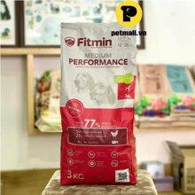 Thức ăn cho chó Fitmin Medium Performance - 3kg, dành cho chó 13-35kg và trên 12 tháng
