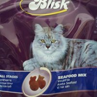 Thức Ăn Cho Mèo Hạt Khô Hải Sản Blisk 1.5kg