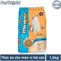 Thức ăn cho mèo mọi lứa tuổi vị hải sản Minino Yum 15kg (Blisk cũ)