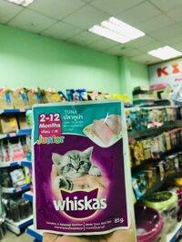 Thức ăn cho mèo Pate Whiskas 85gr vị cá ngừ cho mèo con