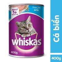 Thức Ăn Cho Mèo Whiskas Vị Cá Biển Dạng Lon 400g