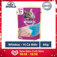 Thức ăn cho mèo Whiskas vị cá biển túi 85g