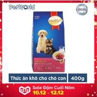 Thức ăn hạt khô cho chó con Smartheart Puppy vị Bò và Sữa túi 400g