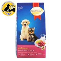 Thức ăn hạt khô cho chó con Smartheart Puppy vị Bò và Sữa túi 1.5KG