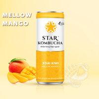 Thùng 12 lon thức uống lên men STAR KOMBUCHA Xoài Kiwi/ Mellow Mango (250ml/lon)